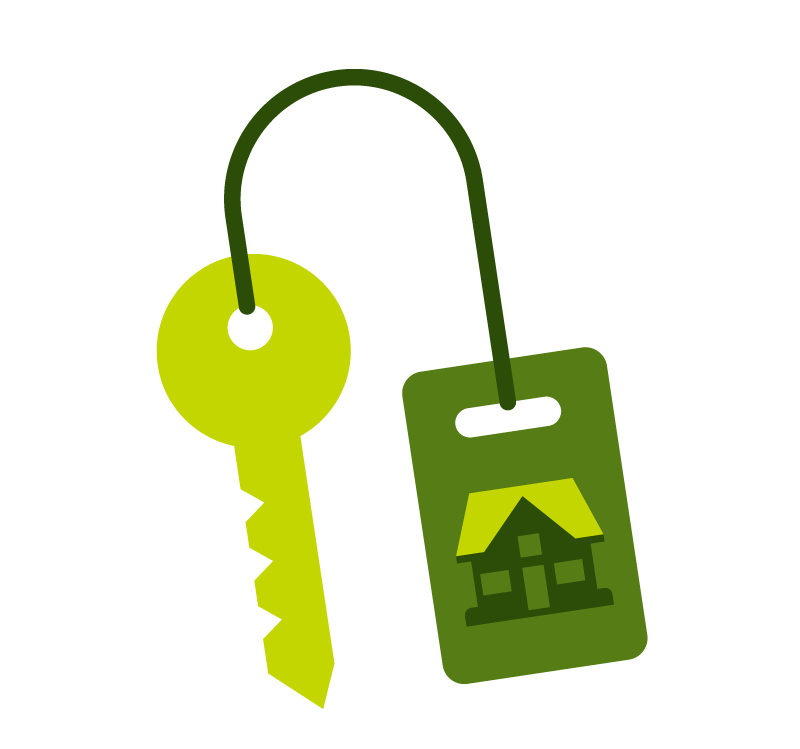 conventional mortgage keys icon