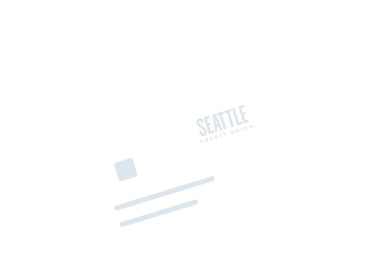Seattle Credit Union logo and card information icon