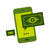text message banking icon